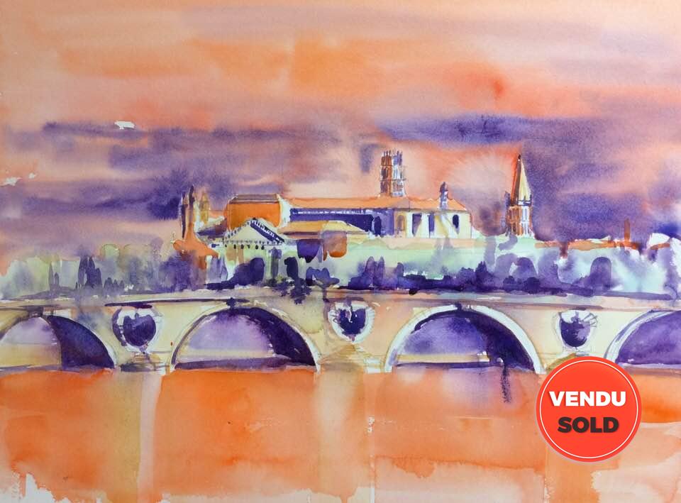 Toulouse pont ocre